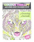 Adult Colouring Anti-Stress Therapy 64 Page A4 Amazing Animals Book - 2nd Generation