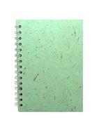 Pink Pig A5 Portrait Sketchbook - Black Cartridge - 35 Leaves - Peppermint Cover