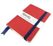 Artway - Travel Journal/Sketchbook - Cartridge Paper - 150gsm 120 x 170mm 96 Sides - Half Plain / Half Ruled Paper
