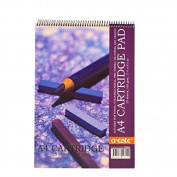 Create A4 Wiro 165gsm Cartridge Pad 25Shts Ideal for pencil,pastels,Oil pastels