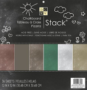 Die Cuts with View 30cm x 30cm Paper Pad Chalkboard Works with Chalk, 36 Sheets.,