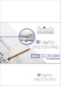 Frisk A5 205 x 146 mm 20 Pages Lay Flat Portrait Sketch Pad, White