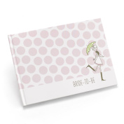 Hortense B. Hewitt Wedding Accessories Bridal Shower Guest Book, White with Pink Polka Dots