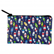 Summer Sun Buoy Bouys Repeat Pattern Navy Coin Purse