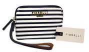 Fiorelli Lexi Nautical Navy and White Stripe Zip Top Wristlet Purse with Inner Pocket