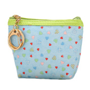 iTemer PU Leather Small Wallet with Keyring Women Lady Portable Mini Storage Travel Toiletry Makeup Bag Coin Purse