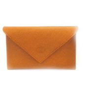Leather door car papers 'Frandi' orange (slim).