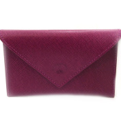 Leather door car papers 'Frandi' purple (slim).