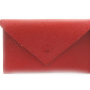 Leather door car papers 'Frandi' red (slim).