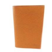 Leather door car papers 'Frandi' orange (slim).