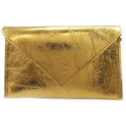 Leather door car papers 'Frandi' bronze (slim).