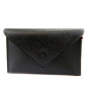 Leather door car papers 'Frandi' black (slim).