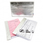 Leather door car papers 'Frandi' silver (slim).