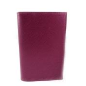 Leather door car papers 'Frandi' purple (slim).