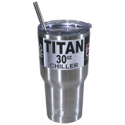 Titan 890ml Stainless Steel Tumbler Cup Double Wall Insulated Slider Lid & Straw