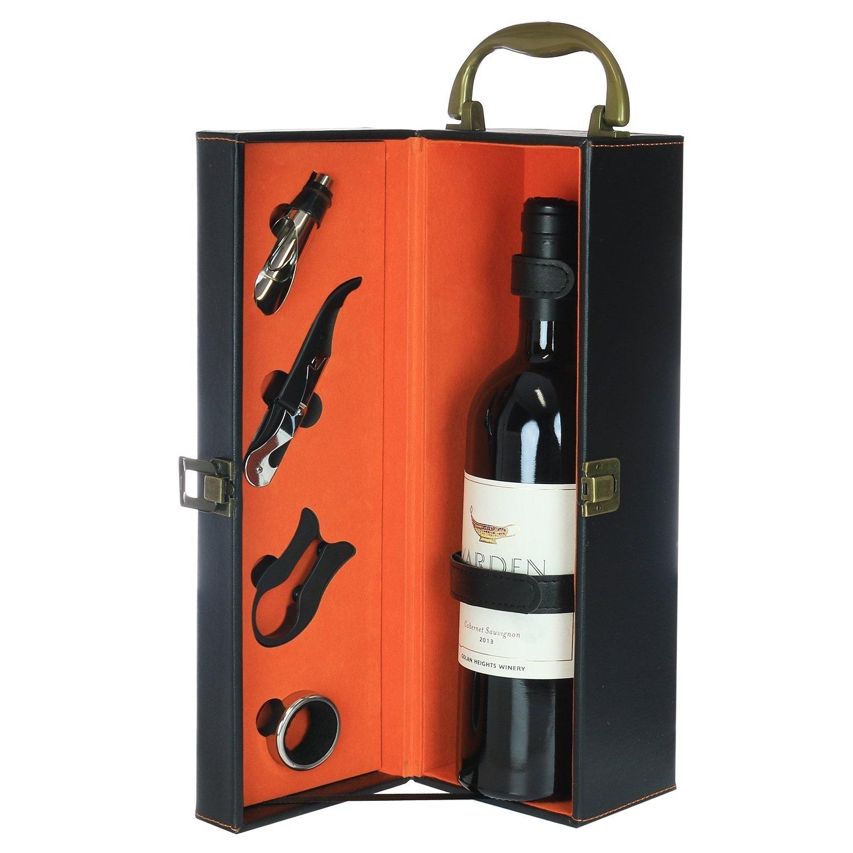 Wine Accessories Gift Set In Bottle Case Gift Ideas