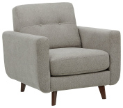 Rivet Sloane Mid-Century Tufted Modern Accent Chair, Pebble