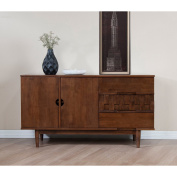 Rubber Wood Tessuto Buffet in Tobacco Finish - Assembly Required 140cm Wide x 45cm Deep x 80cm High / 50kg
