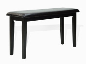 Dining Kitchen Solid Wooden Stained Bench Padded Seat Espresso Black Finnish