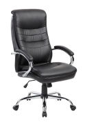 NORDIN Ergonomic High Back Executive PU Leather Office Desk Chair with Arms