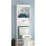 Hawthorne Place White Wood Spacesaver Bathroom Shelf