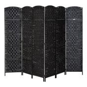 HomCom 6' Tall Diamond Weave Woven Fibre Room Divider