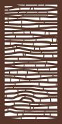 MODINEX Decorative Screen Panel - BAMBOO Design - 0.6m x 1.2m Size - Espresso - 80% Privacy