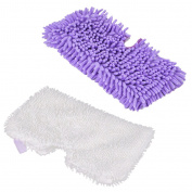 Sharplace Set 2pcs Microfiber Replacement Mop Pad For Shark Steam Mop S3550/S3901/S3601/S3501 Purple+White