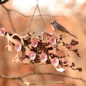 Desert Steel Cherry Blossom Window Decorative Bird Feeder