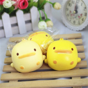 Winkey Decompression Toy,Squishy Cute Yellow Duck Bread Phone Straps Slow Rising Bun Charms Gifts Toys