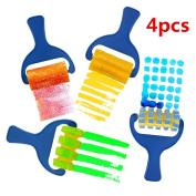4Pcs Sponge Paint Roller DIY Kids Art Painting Tool Toy Preschool Children