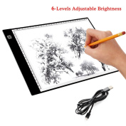 LED Copy Board, A4 Super Thin LED Drawing Copy Tracing Light Box Track Light with Brightness Adjustable Tattoo Sketch Architecture Calligraphy Crafts For Artists, Drawing, Sketching