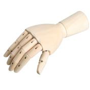 Kicode 18X6cm Wooden Artist Articulated Right Hand Manikin Model Gift Art Alternatives