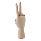 Wooden 7 Jointed Flexible Mannequin Model Manikin Right Hand by RDEXP
