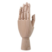 Art Drawing 10 Articulated Wooden Left Hand Mannequin Model Manikin Hand by RDEXP