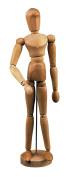 Lefranc & Bourgeois Craft 806158 – Mannequin Man 30 cm Beech