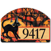 Magnet Works Witch Hat Cat Yard DeSign