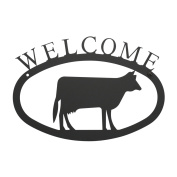 Cow Welcome Sign SM Powder Metal Coated