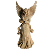 Hi-Line Gift Ltd. Sand Standing Angel with Wings Up Statue