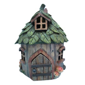 Hi-Line Gift Ltd. Fairy Garden House with Leaf Roof Statue