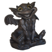 "Homestyles - Gargiggles - ""Ivan"" Large Baby Brother Gargiggle™ with Gold Eyes Siting-Up for the First Time Home & Garden Gargoyle Figurine Statue 43cm H"