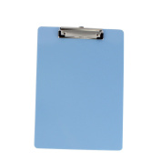 sourcingmap Office School A4 Paper File Note Holder Clamp Clip Board Light Blue