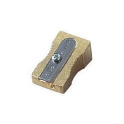 Solid Brass Single Hole Pencil Sharpener by Kum