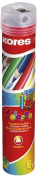 Kores Pencil Kolores Jumbo, Ergonomically, 3-Kant with Sharpeners, 6 Colours
