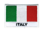 Italy Flag Country Sew on Embroidered Badge Symbol Custom