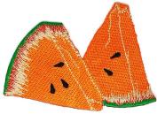 Watermelon Cartoon Hippie Retro Biker Jacket T-shirt Vest Patch Sew Iron on Embroidered Badge Custom