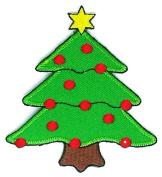 Christmas Tree Cartoon Sign Hippie Retro Biker Jacket T-shirt Vest Patch Sew Iron on Embroidered Badge Custom