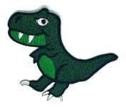Green Dinosaur Wild Life Cartoon Sign Hippie Retro Biker Jacket T-shirt Vest Patch Sew Iron on Embroidered Badge Custom