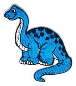Light Blue Dinosaur Wild Life Wild Life Cartoon Sign Hippie Retro Biker Jacket T-shirt Vest Patch Sew Iron on Embroidered Badge Custom