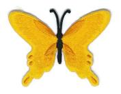 Orange Butterfly Wild Life Cartoon Sign Hippie Retro Biker Jacket T-shirt Vest Patch Sew Iron on Embroidered Badge Custom